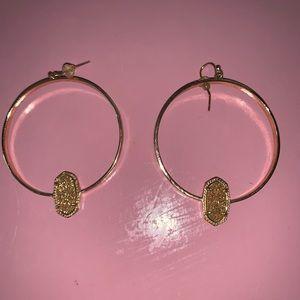 Kendra Scott Jewelry - Kendra Scott Elora Gold Hoop Earrings In Drusy